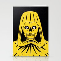 Yellow Death Stationery Cards