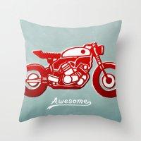 Vintage Bike Throw Pillow