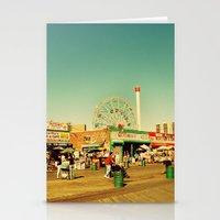Coney Island luna park, New York Stationery Cards