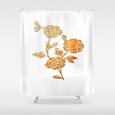 PAPERCUT FLOWER 3 Shower Curtain