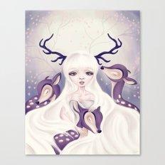 Deer: Protection Series Canvas Print