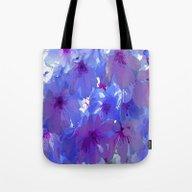 Blue Cherry Blossoms Tote Bag