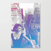 Natalie Wood Cityscape Canvas Print