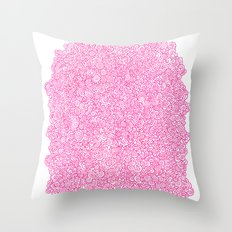 Pink Swirly Doodle Throw Pillow