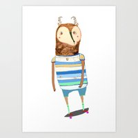 Deer, Deer Art, Deer Pri… Art Print
