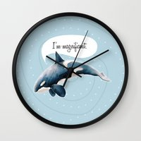orcinus orca Wall Clock