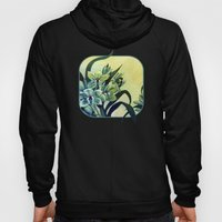 Green Orchids Triptych Hoody