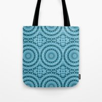 Light Blue Kaleidoscope / Mandala Tote Bag