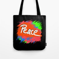 Peace (retro Neon 80's S… Tote Bag