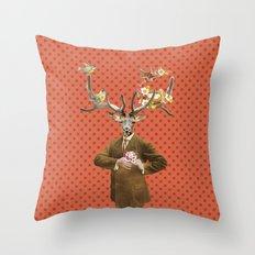 Monsieur Le Cerf Throw Pillow