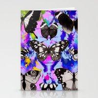 Tie Dye Butterflies Stationery Cards