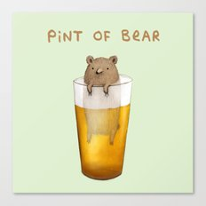Pint Of Bear Canvas Print