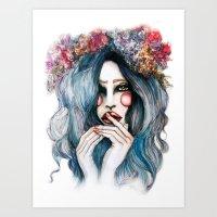 Flower Child // Fashion … Art Print