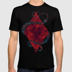 Scarlet Crystal Mens Fitted Tee Black SMALL