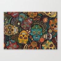 Calavaras - Day of the Dead Skulls Canvas Print