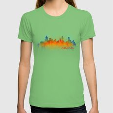 Atlanta City Skyline Hq v3 Womens Fitted Tee Grass SMALL