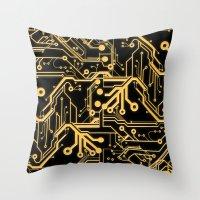 Techno Organic  Throw Pillow