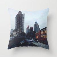 Black Canal Throw Pillow