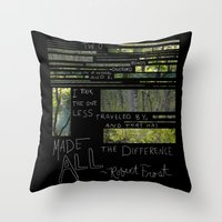 The Road Less Traveled By Throw Pillow