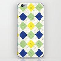 Argyle Plaid In Blue, Gr… iPhone & iPod Skin