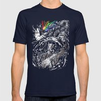 Dark Side Of The Rainbow Mens Fitted Tee Navy SMALL