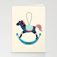 Rocking Horse Stationery Cards