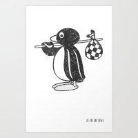 Pingu Art Print