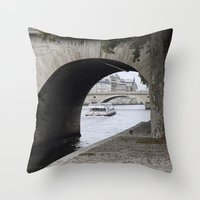 Parisian Autumn Throw Pillow