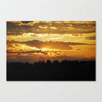 Canvas Print featuring Sunset by Dreamanda