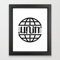 Unity Ambigram for Boston Framed Art Print