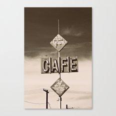 24 hour Cafe  Canvas Print