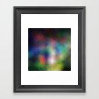 rainbowBlur Framed Art Print