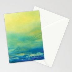 YELLOW & BLUE TOUCHING #1 #abstract #art #society6 Stationery Cards