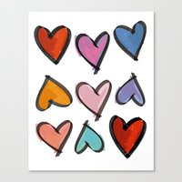 Hearts 2 Canvas Print