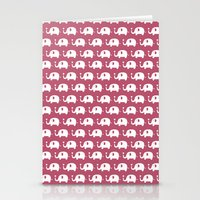 Elephants in love (Plum) Stationery Cards