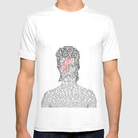 David Encyclopedia Mens Fitted Tee White SMALL