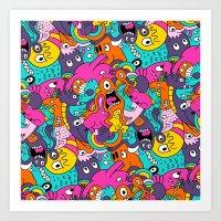 Jumble Bunny Art Print
