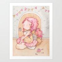 Hobbit Girl Art Print
