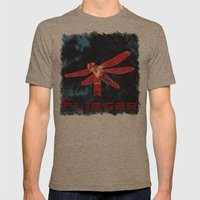Night Flyer Mens Fitted Tee Tri-Coffee SMALL