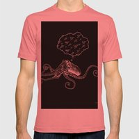 Octopus Daydream Mens Fitted Tee Pomegranate SMALL