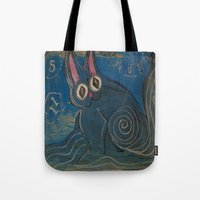 Wave Kitty Tote Bag