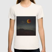 Blood Moon Rising  Womens Fitted Tee Natural SMALL