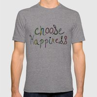 Choose Happiness (color version) Mens Fitted Tee Tri-Grey SMALL