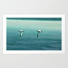 Ocean patrol Art Print