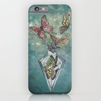 iPhone & iPod Case featuring Butterfly Bottle  by Annie illustrations