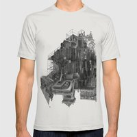 Extend Mens Fitted Tee Silver SMALL