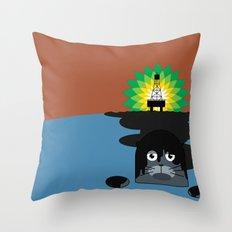BP Oil Attack Throw Pillow