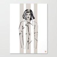 First Hello No.1 (grey) Canvas Print