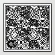 Deco' In Black & White 1 Canvas Print