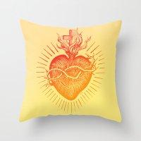 Bleeding Heart – Scarl… Throw Pillow